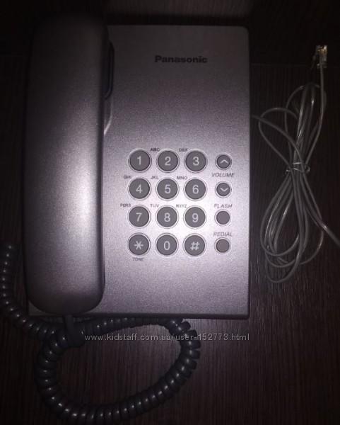 Телефонный аппарат Panasonic KX-TS2350UA Silver Телефон стационарный