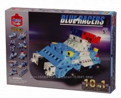 Конструктор Artec Blocks BLUE RACERS 10-в-1, 100 деталей, шикарная новинка