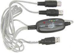USB MIDI интерфейс кабель предназначен для подключения всевозможных музыкал