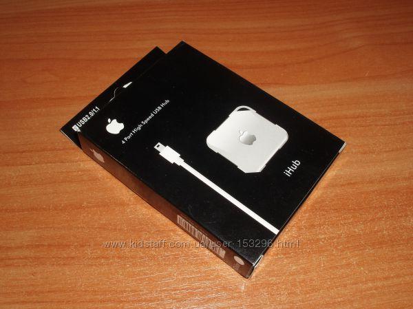 УЦЕНКА. USB 2. 0 iHub 4 Port Apple Mac Laptop лого светящееся яблоко