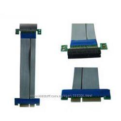 Райзер pcie 4x гибкий шлейф pci-e антистати удлинитель extender