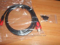 Комплект переходник microHDMI-HDMI  кабель HDMI-HDMI 2m
