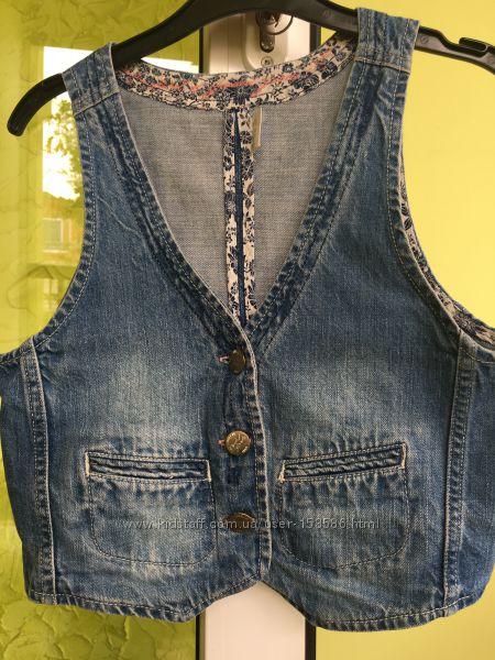 Джинсова жилетка H&M