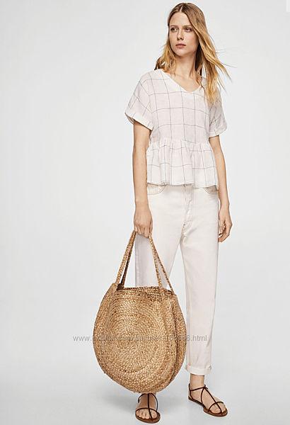 Романтична блуза Mango ,100  льон