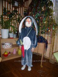 Эксклюзивный новогодний костюм зайки, р. 110-115