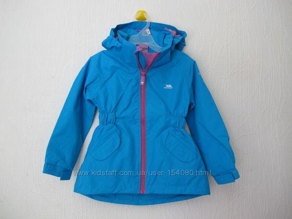 Новая удлиненная демисезонная куртка Trespass для девочки 2-3лет. оригинал