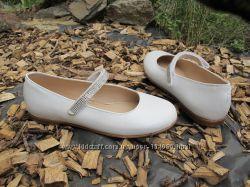 Новые белые кожаные детские туфли Pablosky Paola. разм. 36. Испания