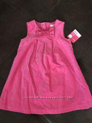 Новое яркое нарядное платье carters бархатное с подкладкой 18м