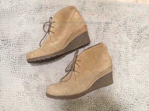 Утепленные замшевые ботинки Roberto Santi  37 24см