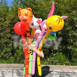Яркие надувные игрушки со звуком 120 см