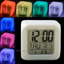 Часы будильник LED переливающиеся 7 цветов В наличии.