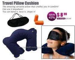 Комплект для сна дома и в дороге беруши маска подушка СОН