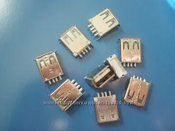 USB Type-A коннектор 2. 0 Female 4 Pin Plug Connector Socket DIY