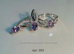 Серебряное кольцо с золотой пластиной и цирконием