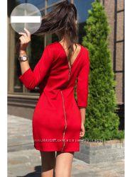 Платье эффектное красное