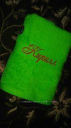 Махровое полотенце с вышитым именем КИРИЛЛ