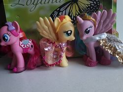 Пони, my little pony Hasbro 15см. Селестия, ПинкиПай, Флатершай