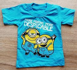 детская футболка на мальчика Ниндзяго, Микки, Гонки, Миньйоны размеры 26, 2