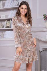 0b2f621fce6b3 Шелковый халат пижамы рубашки коллекция Клементина Clementina 42 по 56рр.