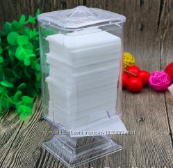 Контейнер для безворсовых салфеток, ватных дисков  пластиковый