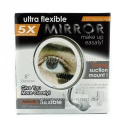 Зеркало гибкое на присоске с подсветкой с 5x увеличением Ultra Flexible Mir