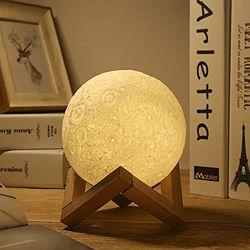 Ночник в виде Луны 3D Moon Light сенсорный 5 режимов диаметр 15 см