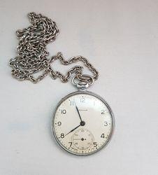 Советские карманные часы Молния на цепочке