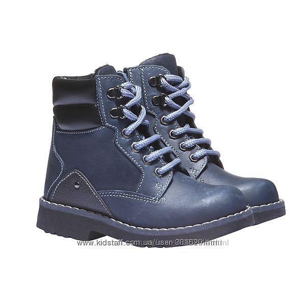 Ботинки BATA Италия 24 размер. натуральная кожа.