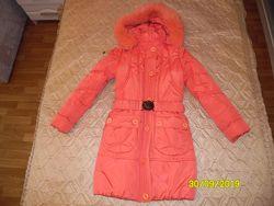 зимнее пальто пуховик NUI VERY, р. 42 152-158 см отличное состояние