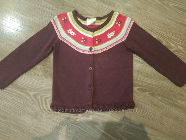 Теплый свитер-кардиган на пуговицах Crazy 8, размер 3 года