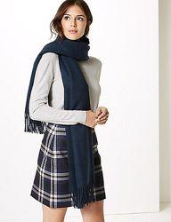 Тёплый шарф из шерсти m&s