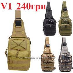 9d6dfeef1 Тактический EDC Слинг мужской Сумка однолямочный рюкзак 5л, 240 грн ...