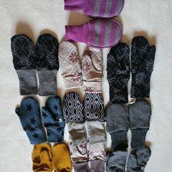 Термобелье варежки рукавицы 1-4 года шерсть. Новый