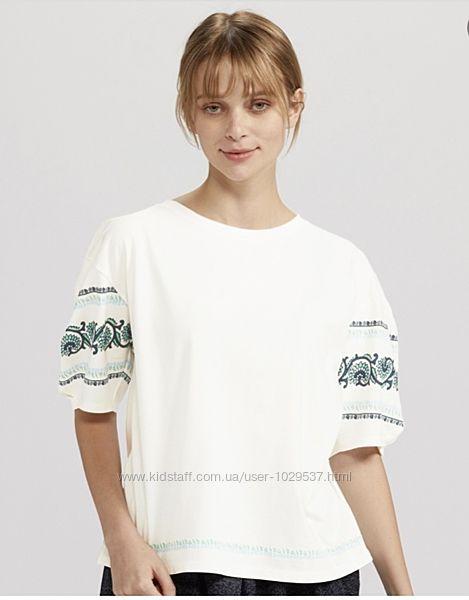 Стильная блуза  футболка Anna Sui для Uniqlo Япония