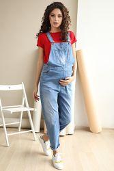 Стильный джинсовый комбинезон для беременных