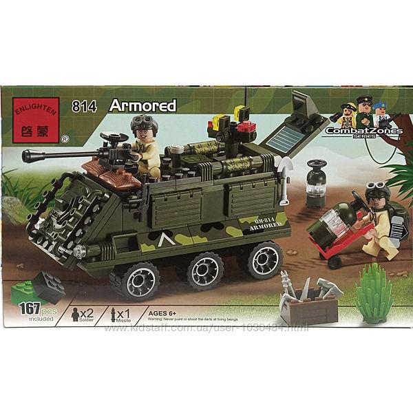 Конструктор Brick 814 Танк 167 деталей.