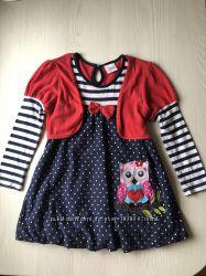 Платье хлопок для садика на 3-4 года, рост 98-104 см