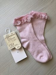Носки Next розовые с кружевом 12-18 мес