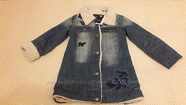 Хит сезона Шикарное стильное джинсовое пальто жакет guess 8 лет оригинал