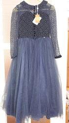 Шикарное платье на торжество LE-MU 9-10 лет