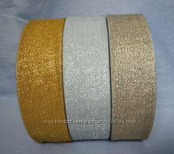 Резинка люрекс золото и серебро