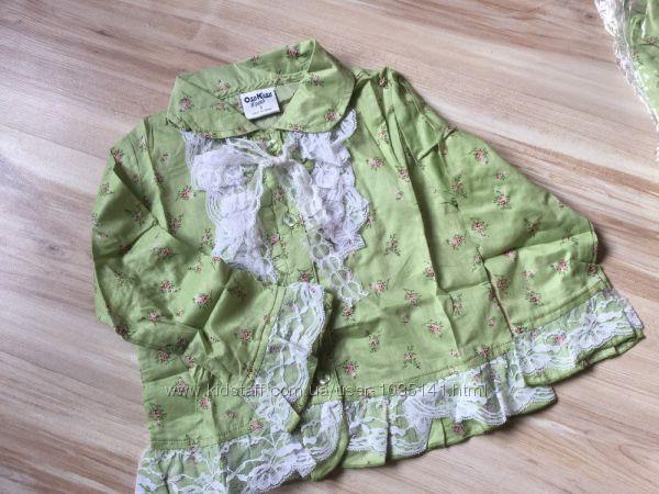 Новая нарядная блуза Osh Kosh с кружевом, хлопок