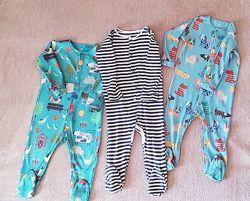Набор из 3 пижам, человечки 1.5- 2 года