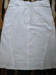 Шикарная белая юбка миди