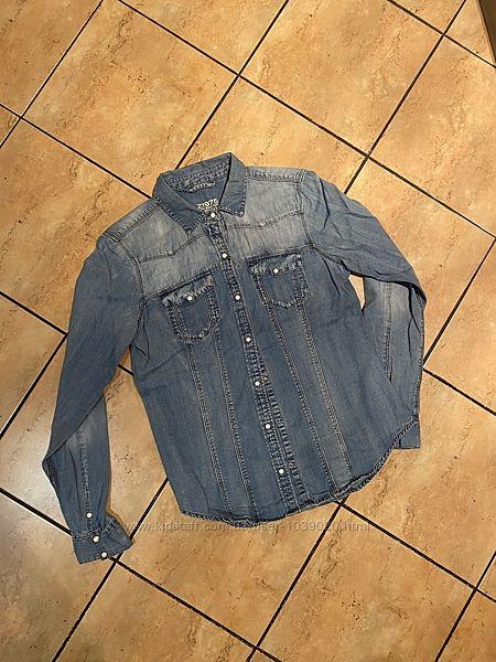 Джинсовая рубашка Zara размер М