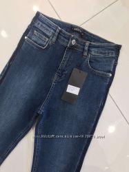 Стильные джинсы скинни высокая талия 34 р Турция