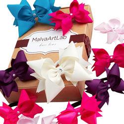 Бантики для волос со Swarovski Подарочный набор 10 шт. резиночки и заколки