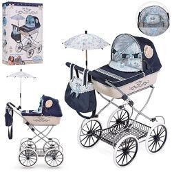 Коляска для куклы, сумка зонт DeCuevas Романтик 81020