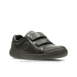 Кожаные туфли-мокасины clarks с мигалками