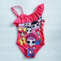 Купальники для девочек от 2 до 8 лет с куклами лол, LOL